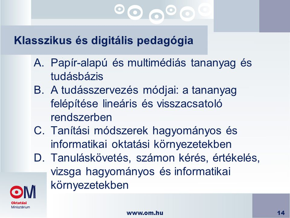 Klasszikus és digitális pedagógia