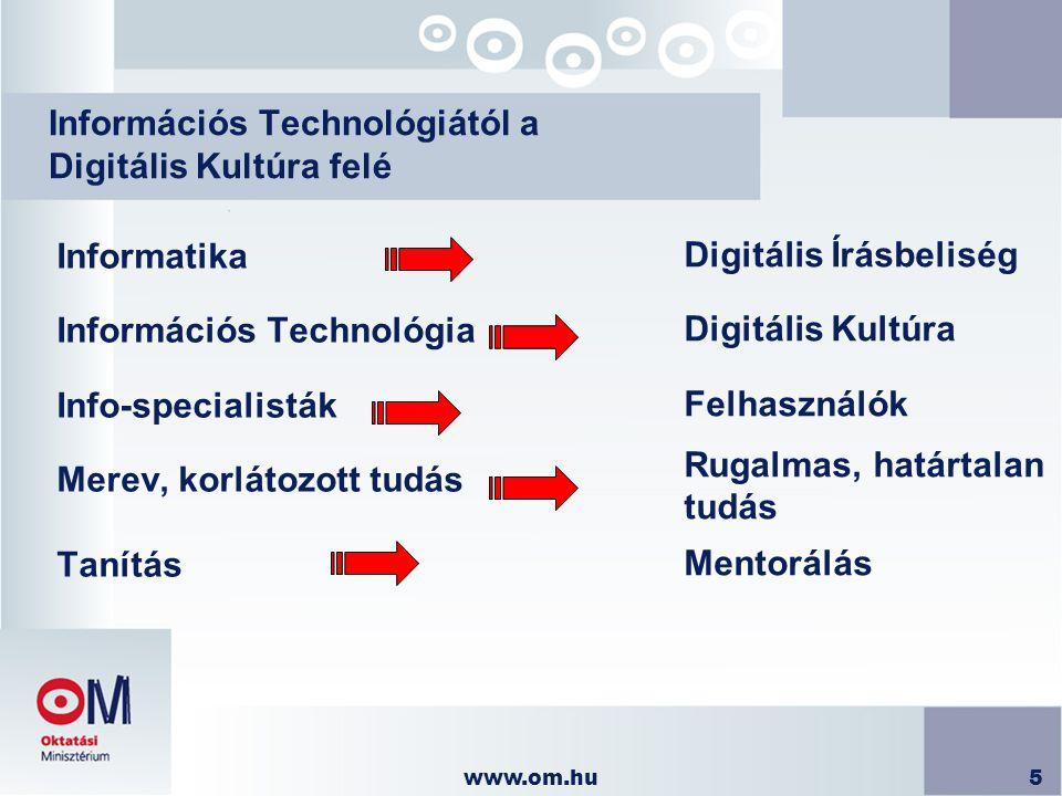 Információs Technológiától a Digitális Kultúra felé