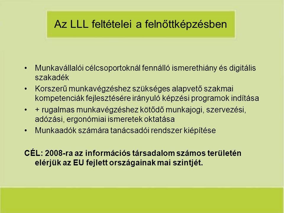 Az LLL feltételei a felnőttképzésben