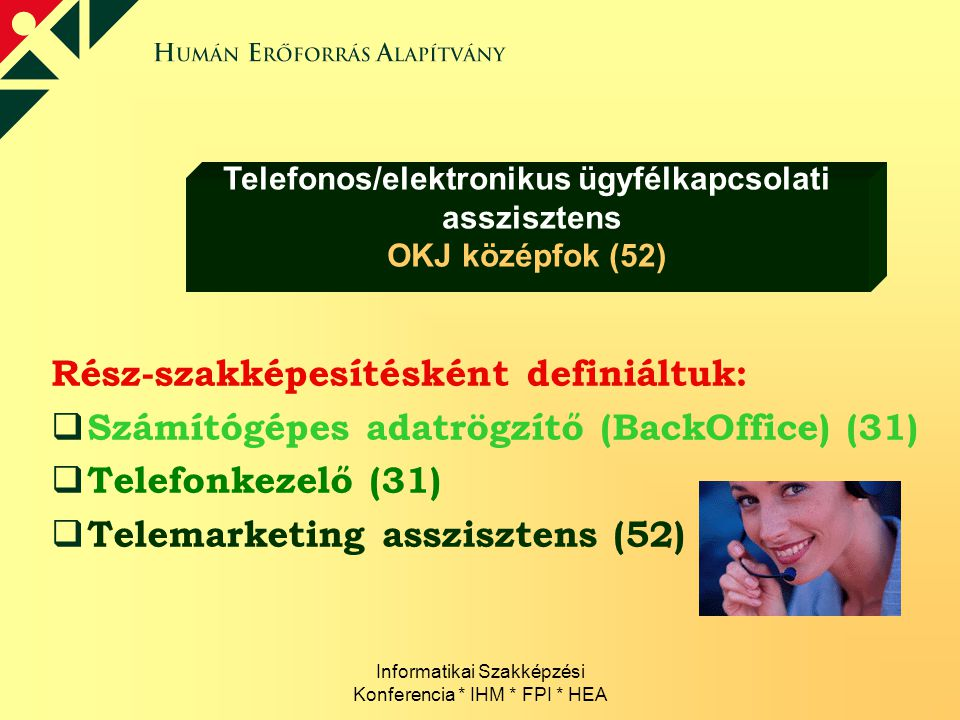 Telefonos/elektronikus ügyfélkapcsolati