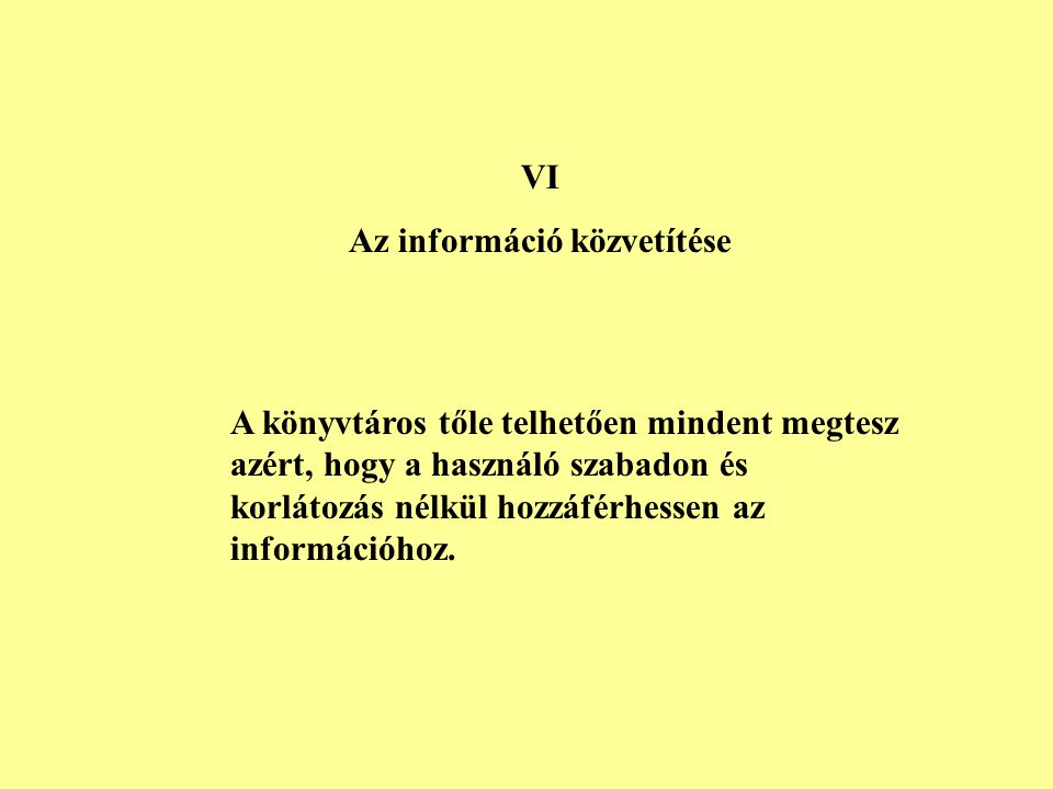 Az információ közvetítése