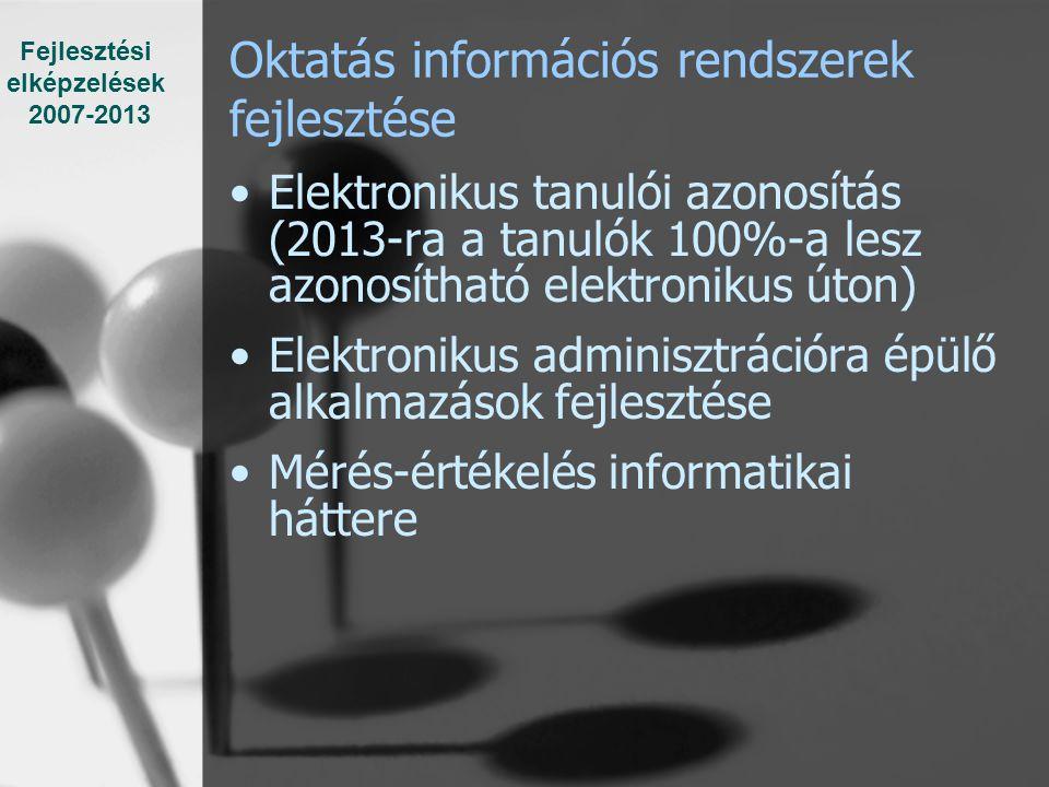 Oktatás információs rendszerek fejlesztése