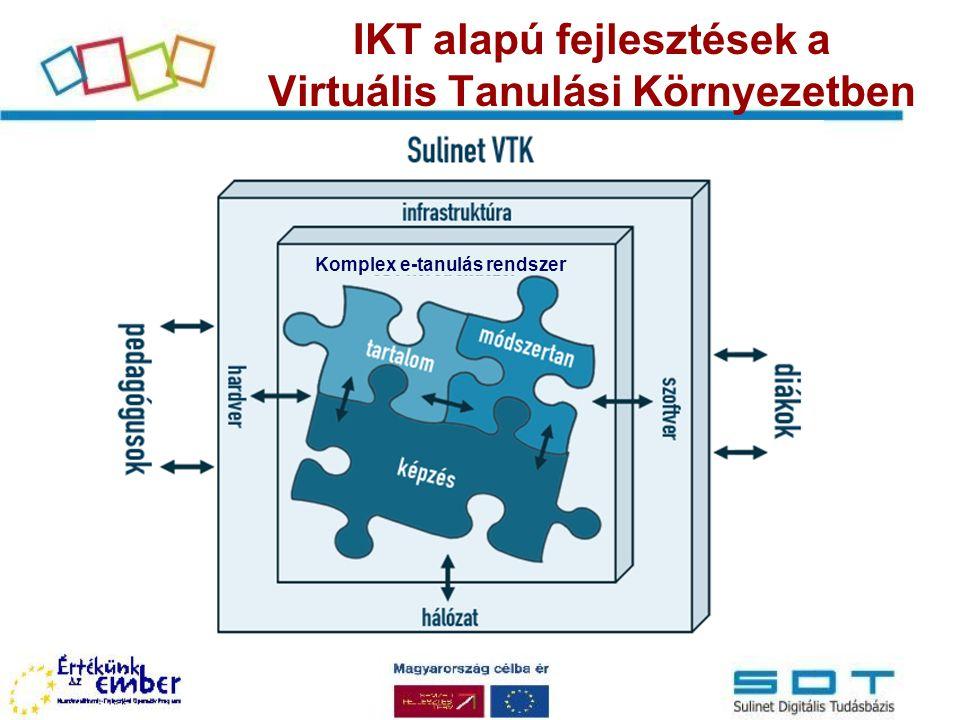 IKT alapú fejlesztések a Virtuális Tanulási Környezetben
