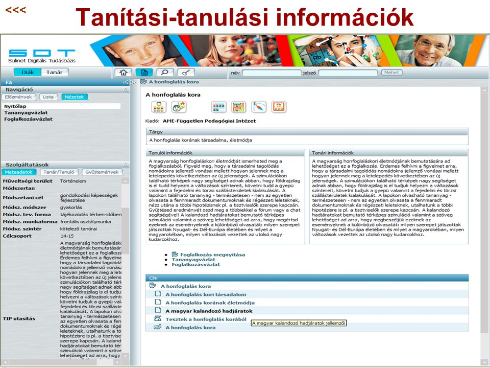 Tanítási-tanulási információk
