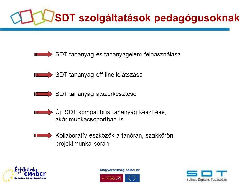 SDT szolgáltatások pedagógusoknak