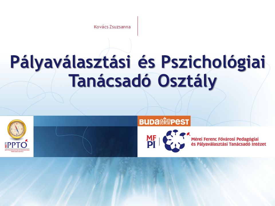 Pályaválasztási és Pszichológiai Tanácsadó Osztály