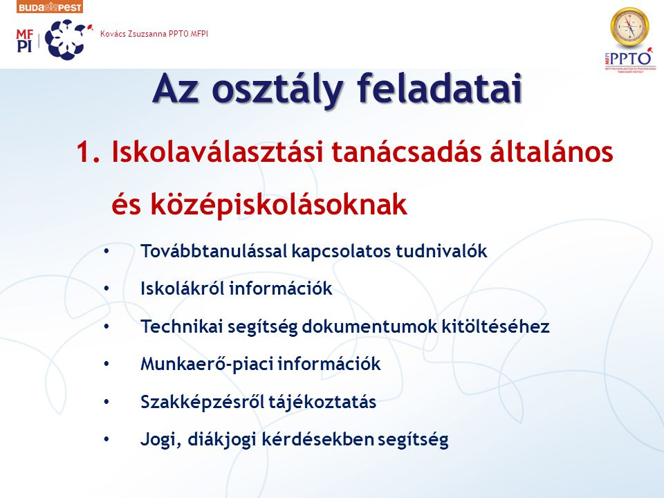 Kovács Zsuzsanna PPTO MFPI