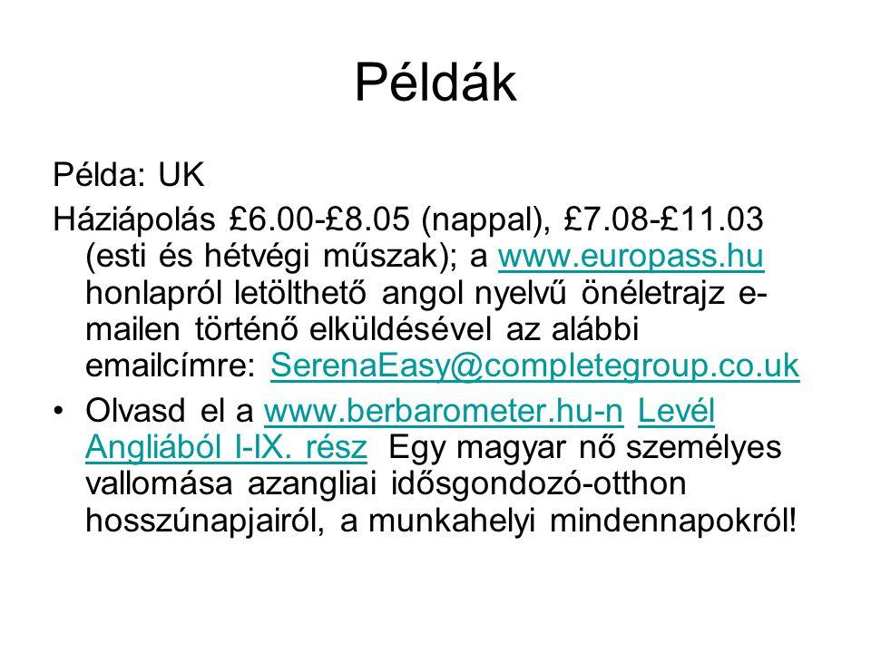 Példák Példa: UK.