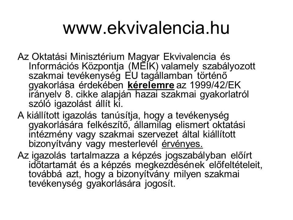 www.ekvivalencia.hu