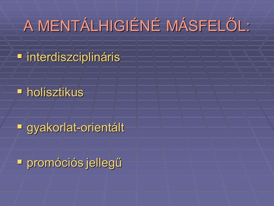 A MENTÁLHIGIÉNÉ MÁSFELŐL: