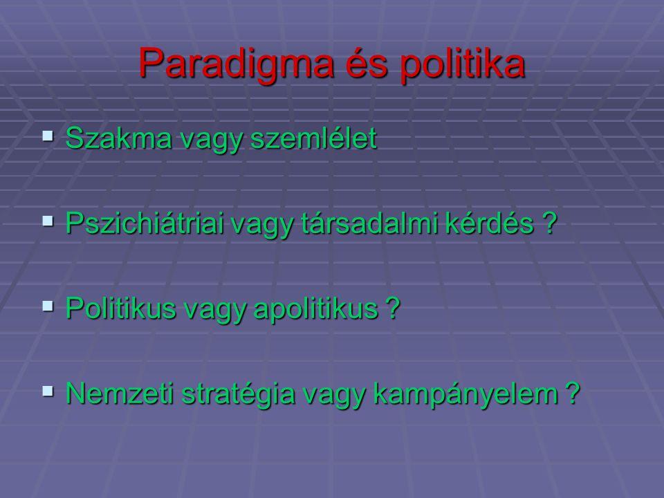 Paradigma és politika Szakma vagy szemlélet