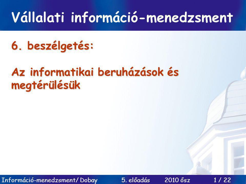 Vállalati információ-menedzsment