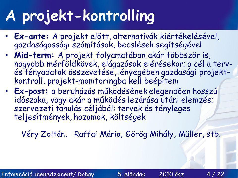 A projekt-kontrolling