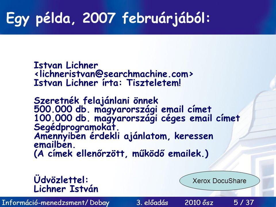 Egy példa, 2007 februárjából: