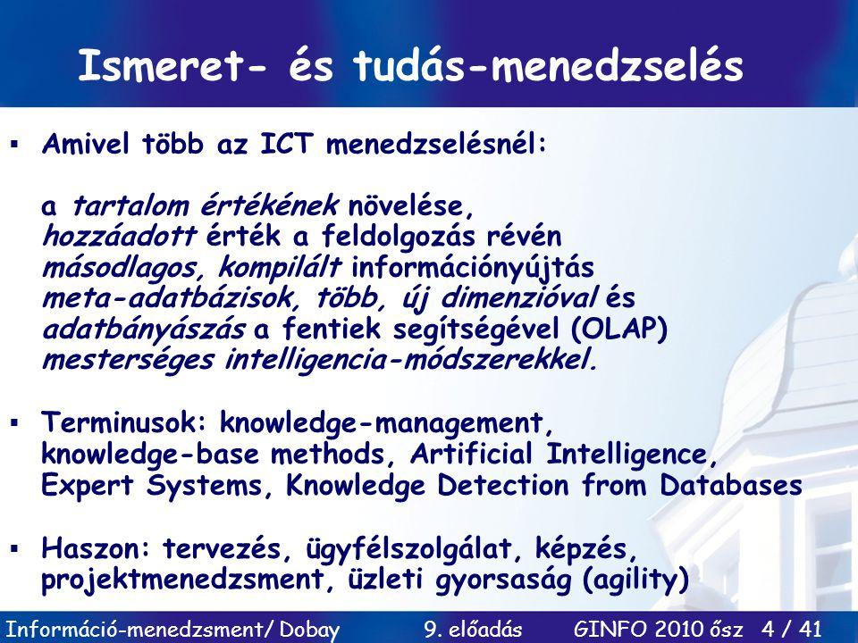 Ismeret- és tudás-menedzselés
