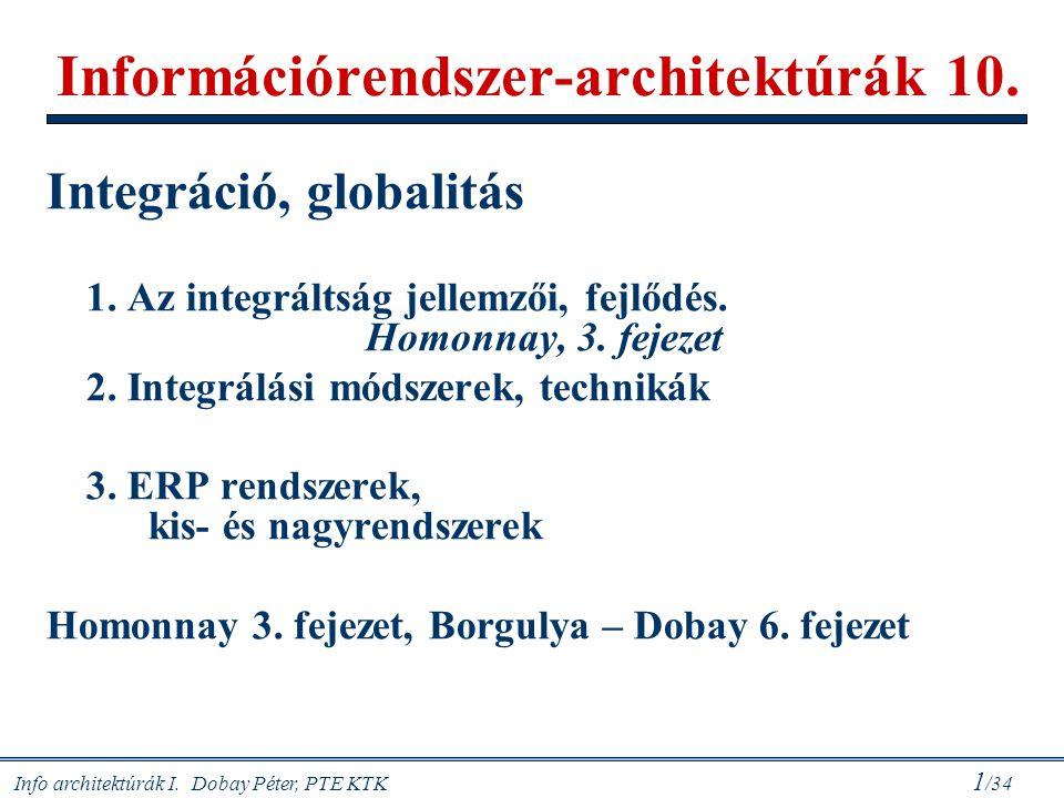 Információrendszer-architektúrák 10.