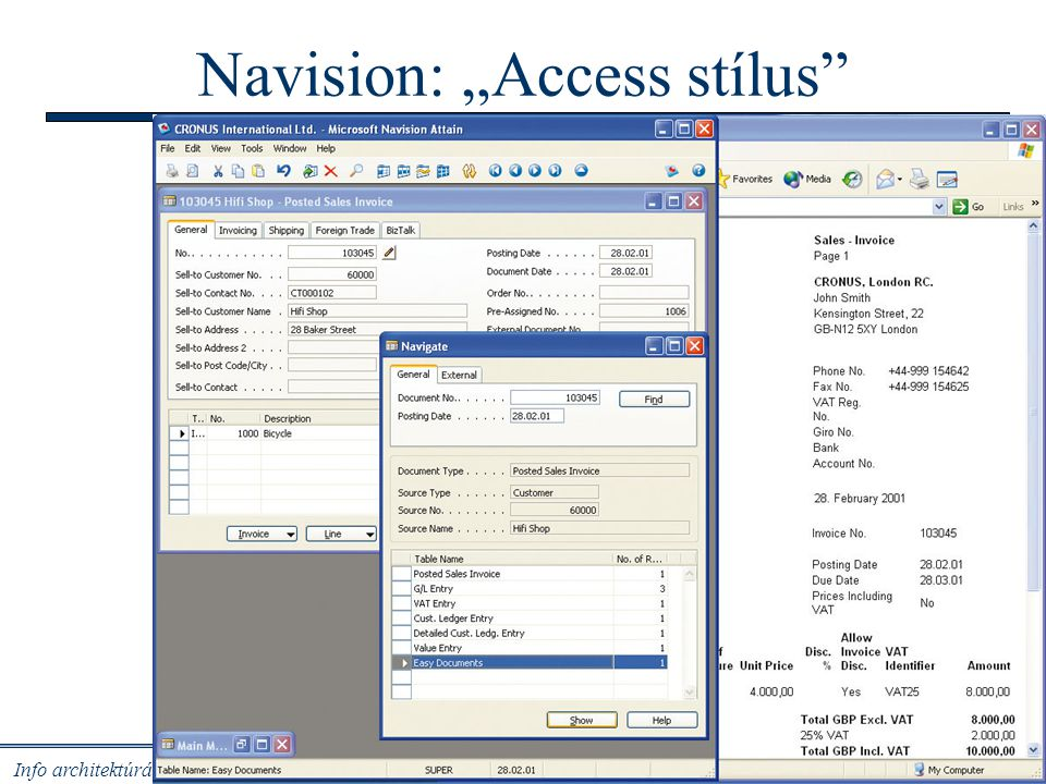 "Navision: ""Access stílus"