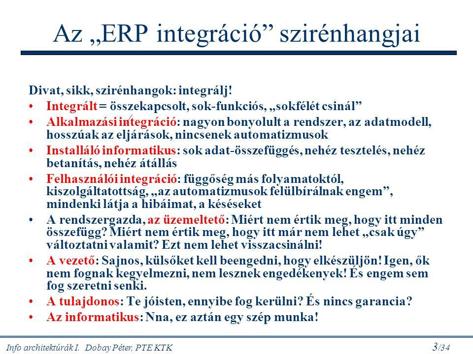 """Az """"ERP integráció szirénhangjai"""