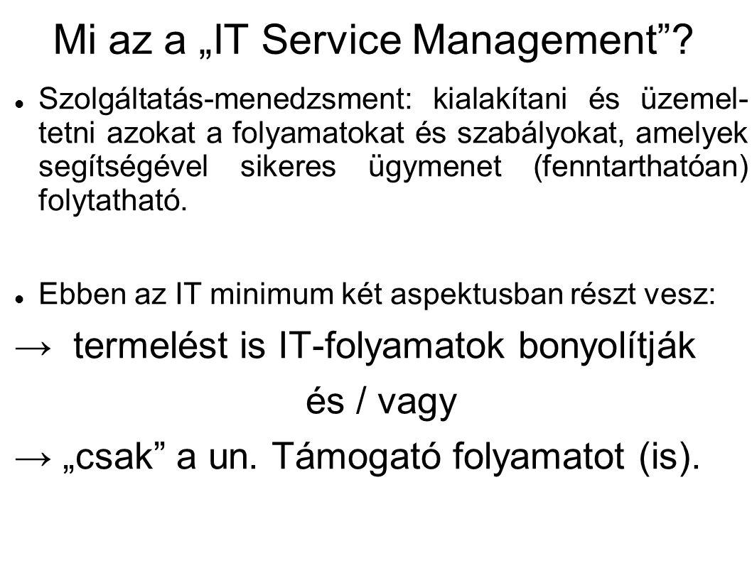 "Mi az a ""IT Service Management"
