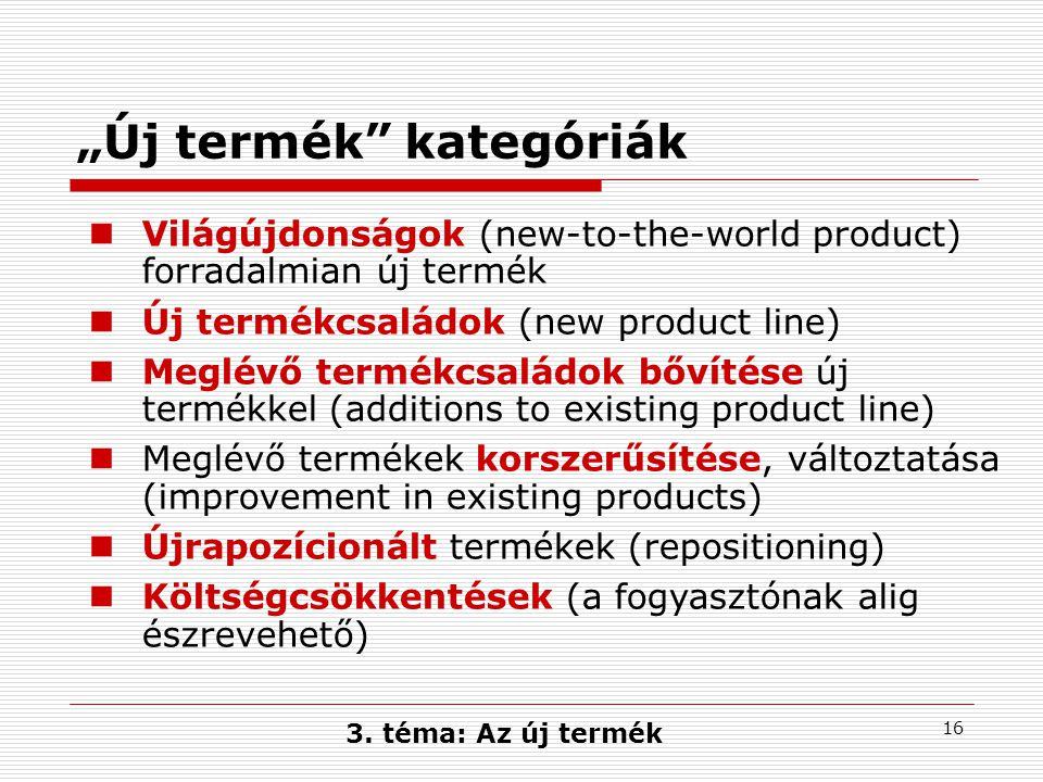 """""""Új termék kategóriák"""