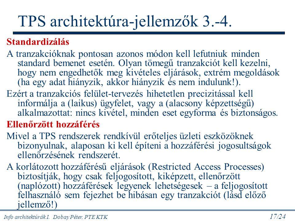 TPS architektúra-jellemzők 3.-4.