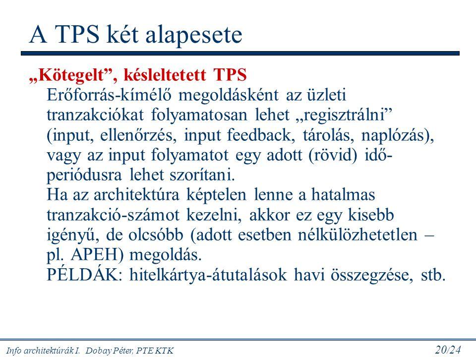 A TPS két alapesete