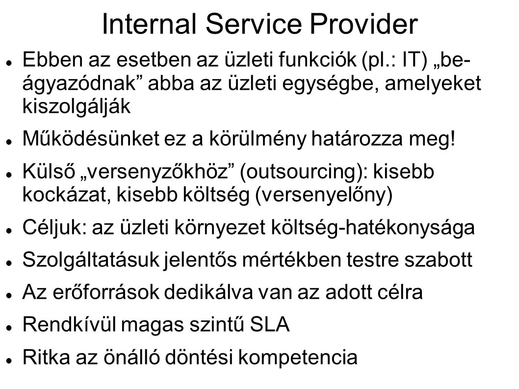Internal Service Provider