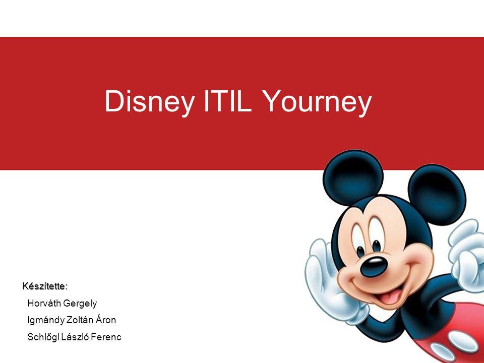 Disney ITIL Yourney Készítette: Horváth Gergely Igmándy Zoltán Áron