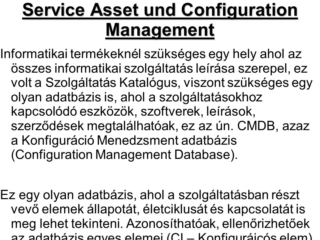 Service Asset und Configuration Management