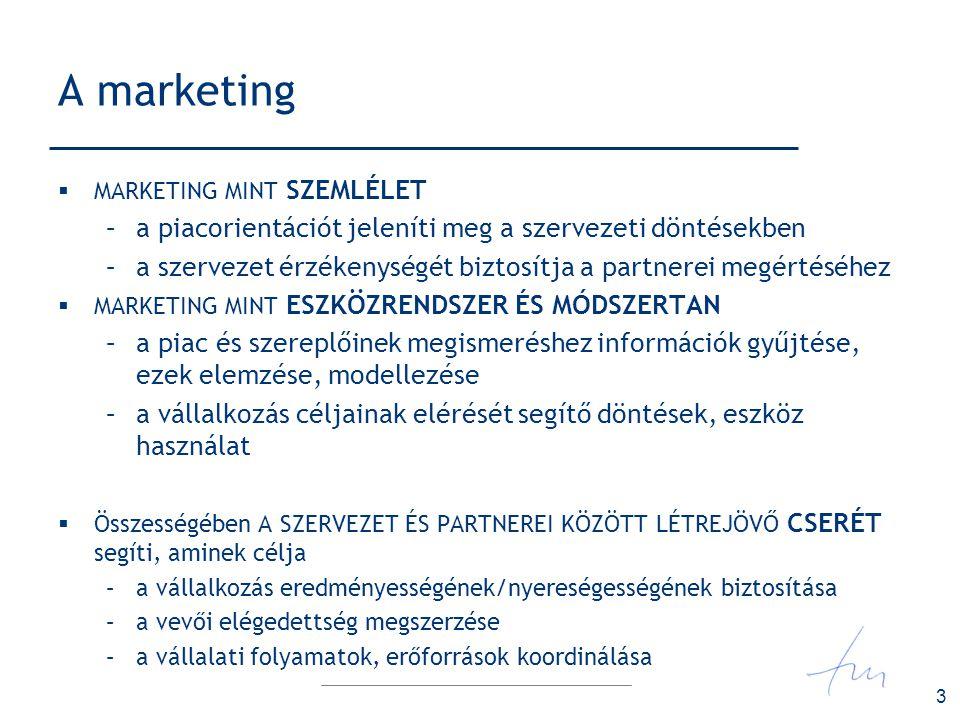 A marketing a piacorientációt jeleníti meg a szervezeti döntésekben