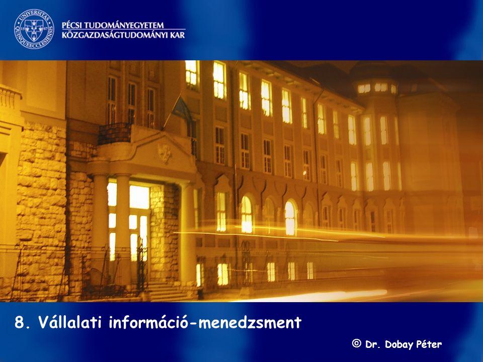 s 8. Vállalati információ-menedzsment © Dr. Dobay Péter