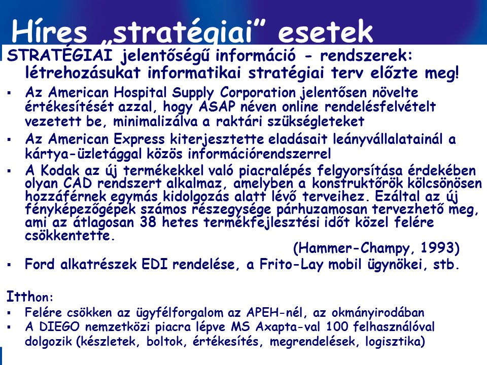 "Híres ""stratégiai esetek"