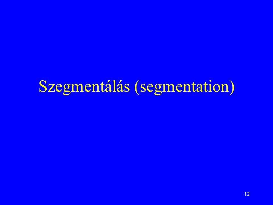 Szegmentálás (segmentation)