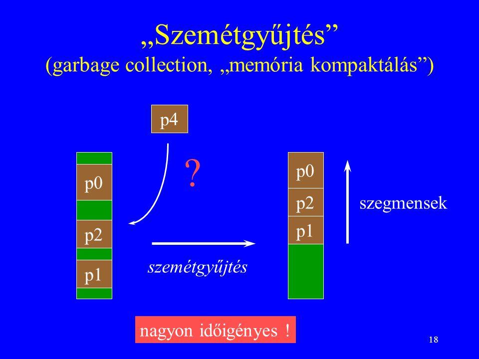 """""""Szemétgyűjtés (garbage collection, """"memória kompaktálás )"""