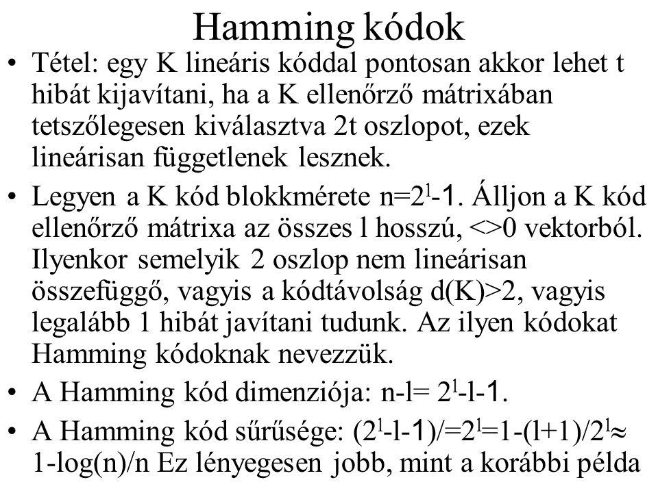 Hamming kódok