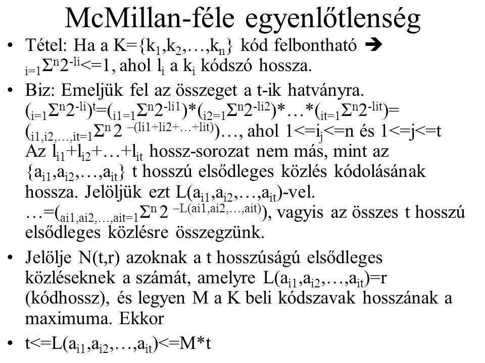 McMillan-féle egyenlőtlenség