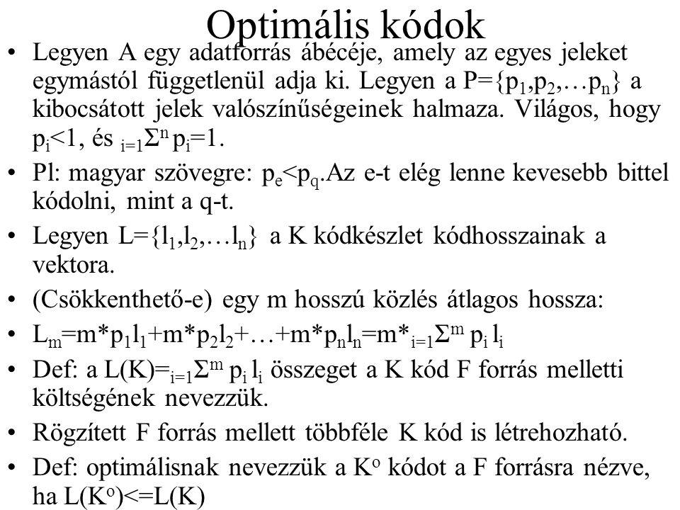 Optimális kódok