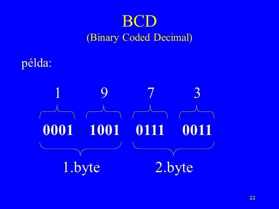 BCD (Binary Coded Decimal)