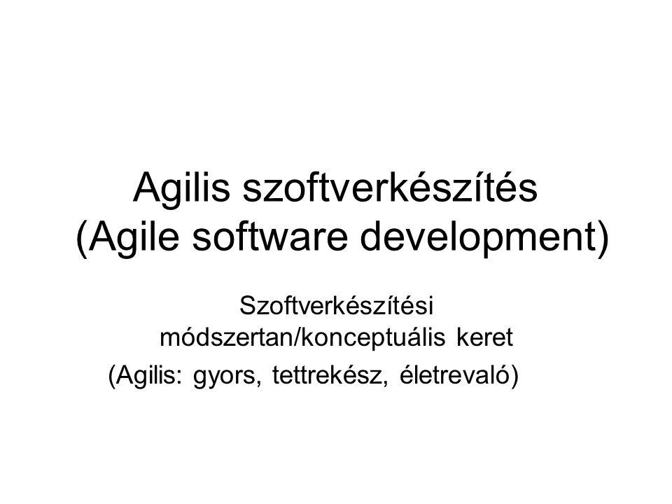 Agilis szoftverkészítés (Agile software development)
