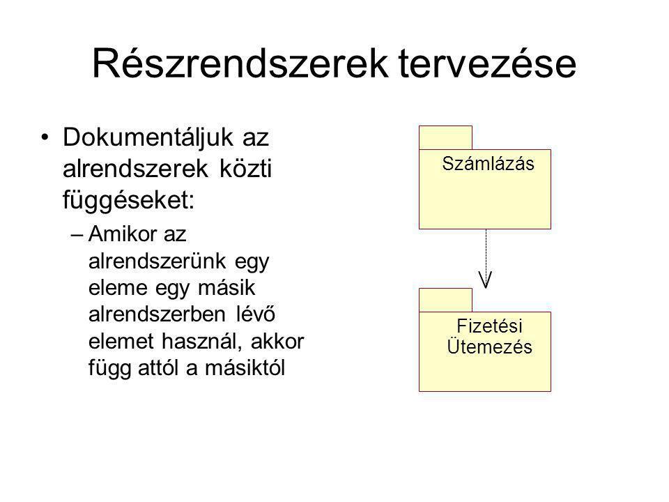 Részrendszerek tervezése