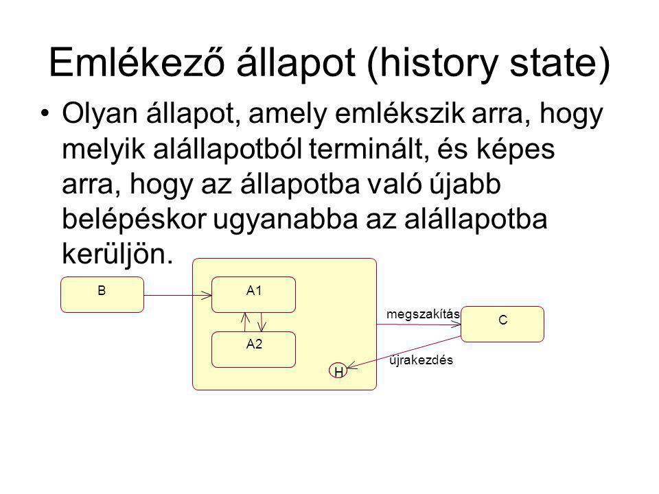 Emlékező állapot (history state)