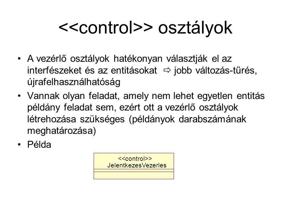 <<control>> osztályok