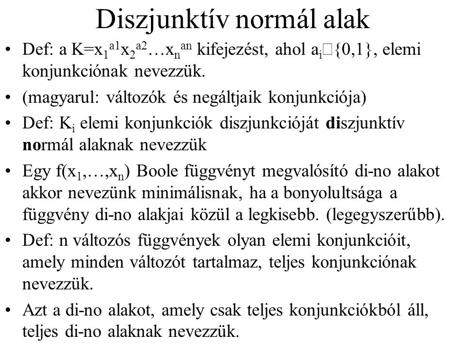 Diszjunktív normál alak