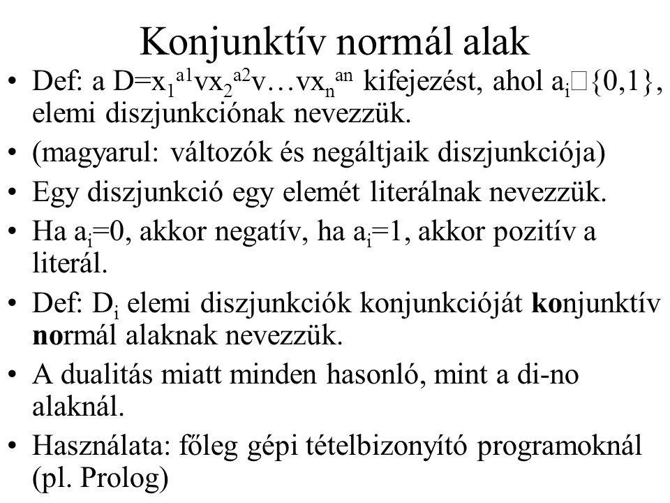 Konjunktív normál alak