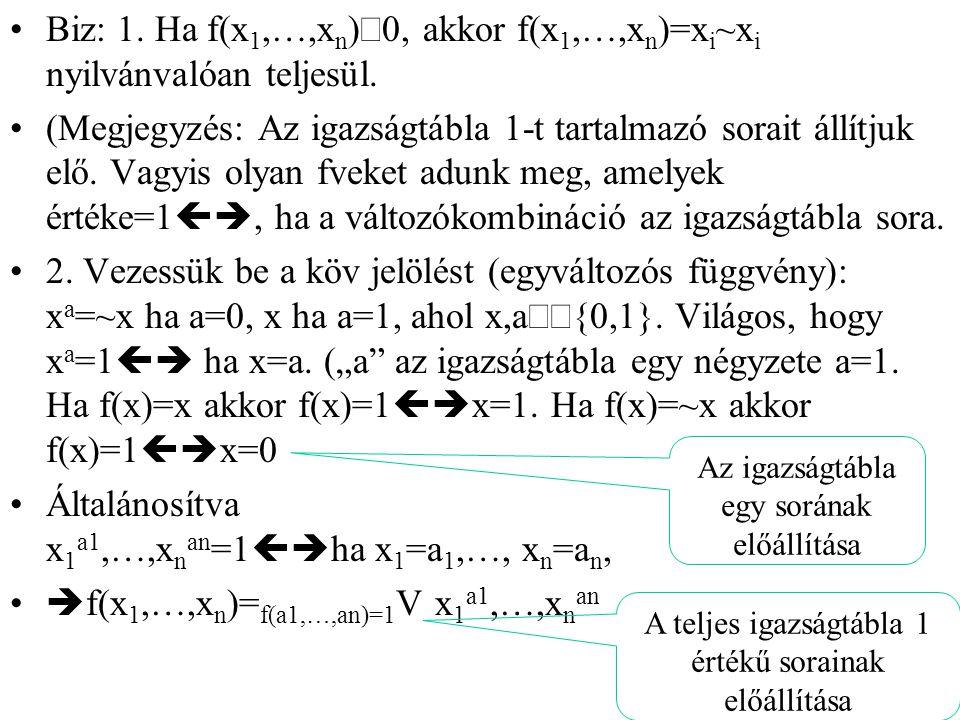 Általánosítva x1a1,…,xnan=1ha x1=a1,…, xn=an,