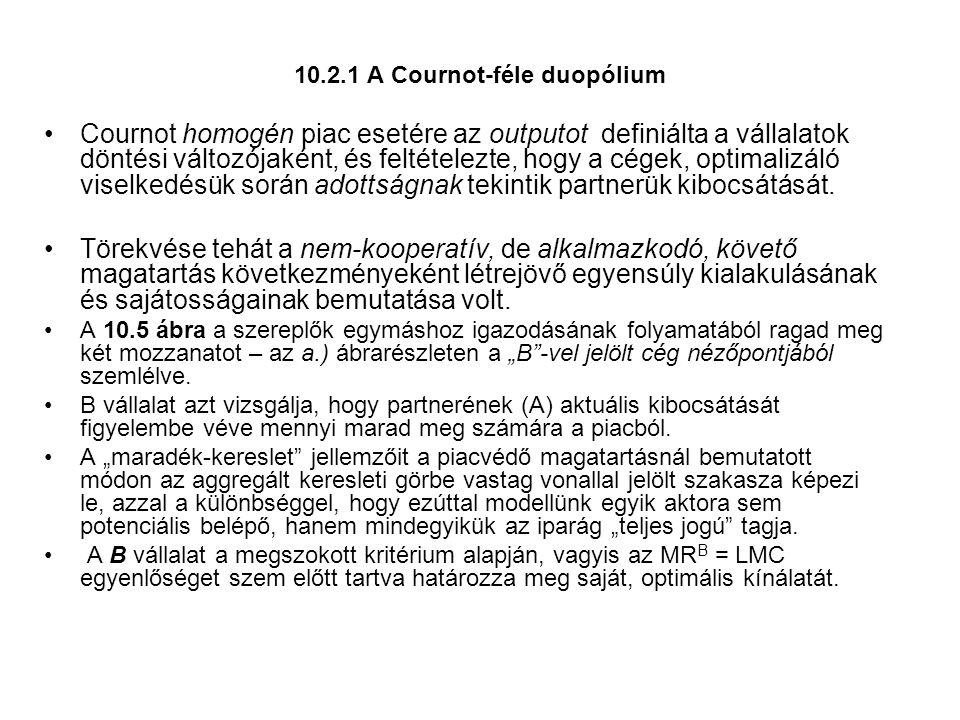 10.2.1 A Cournot-féle duopólium
