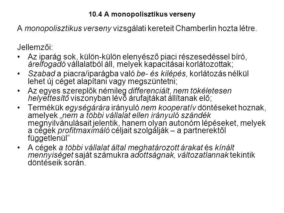 10.4 A monopolisztikus verseny