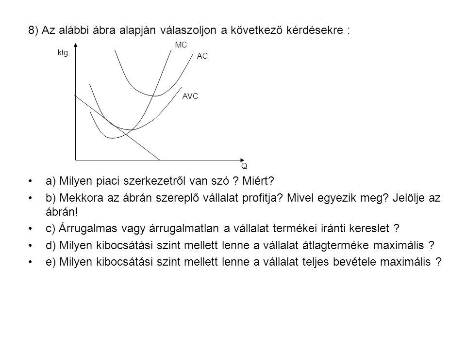 8) Az alábbi ábra alapján válaszoljon a következő kérdésekre :