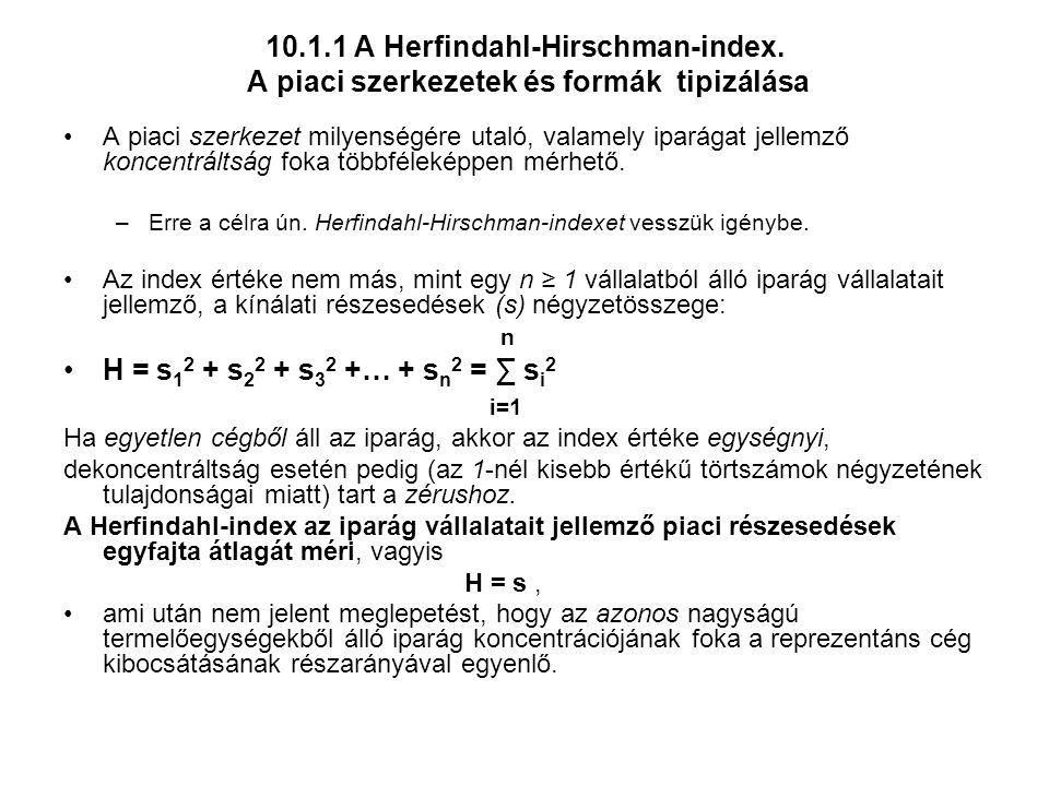 10. 1. 1 A Herfindahl-Hirschman-index