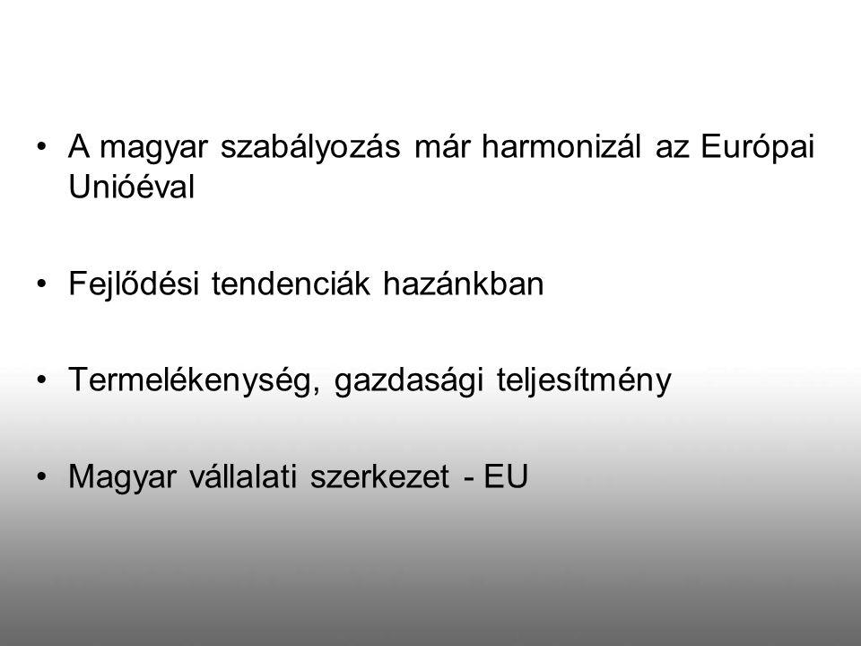 A magyar szabályozás már harmonizál az Európai Unióéval